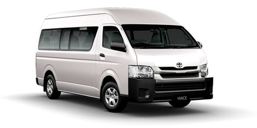 where to rent a toyota commuter bus